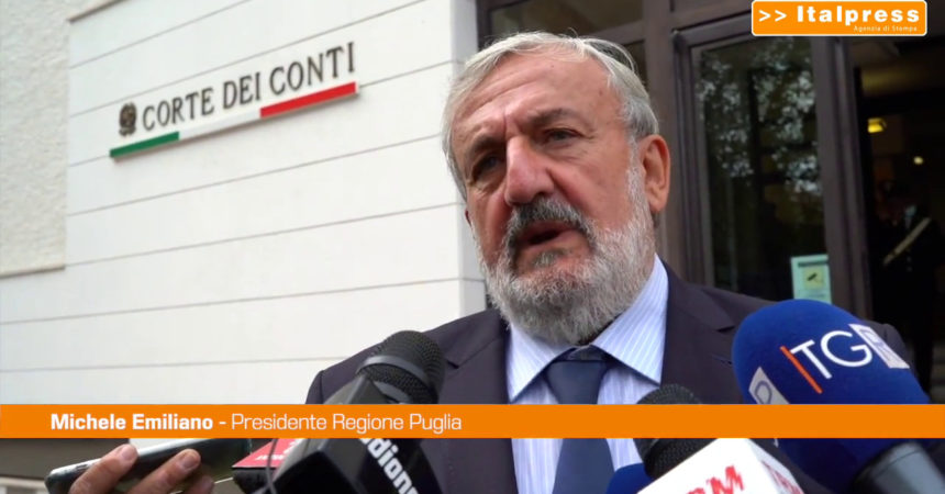 """Emiliano: """"Giudizio parifica Corte dei Conti promuove la Puglia"""""""