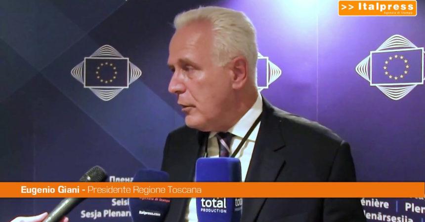 """Regioni, Giani """"Serve un rapporto diretto con l'Europa"""""""